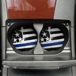 Accessories - Blue Line Flag Car Coaster Set